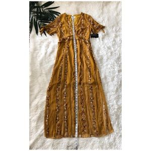 Enfocus Studio Dresses - Enfocus Boho Gypsy Festival Ruffle Maxi Dress NWT